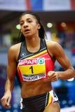 Atletyka - pentatlon kobiet 8000m przeszkody - NAFISSATOU THIAM zdjęcia royalty free