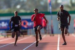 Atletyka samiec Sprint Zdjęcia Royalty Free