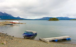 Atlin lake in the springtime Stock Images