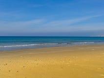 Atlit海岸早晨视图,以色列的北部区 库存图片