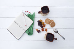 Atmósfera acogedora, desayuno o simplemente un negocio de la fiesta del té Imagen de archivo