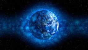 Atmósfera azul alrededor de la tierra Foto de archivo libre de regalías