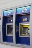 Atmósfera de Citibank con insignia en la sucursal Fotos de archivo libres de regalías