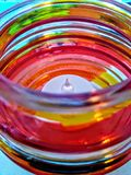 Atmósfera del rojo de la vela Imágenes de archivo libres de regalías