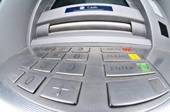Atmósfera o Cashpoint Imágenes de archivo libres de regalías
