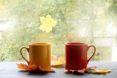 Atmósfera que se calienta del otoño de la comodidad Imagenes de archivo