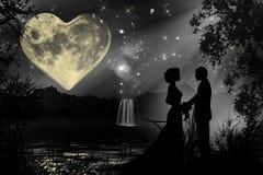 Atmósfera romántica de la tarjeta del día de San Valentín Foto de archivo libre de regalías