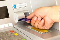 ATM为撤出您的金钱 免版税库存图片