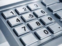ATM机器被保护的按钮密码 免版税库存图片