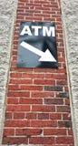 ATM标志 免版税图库摄影