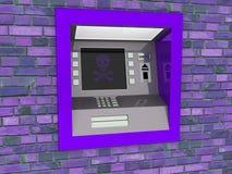 ATM看法在被隔绝的白色背景中 免版税库存图片