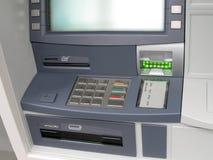 atm自动化的现钞机货币点 库存照片