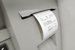 ATM ślizgania Withdrawel kwit Obraz Royalty Free