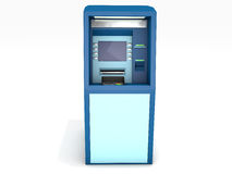 ATM στο άσπρο υπόβαθρο Στοκ Εικόνες
