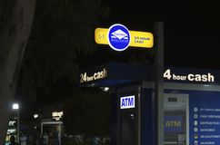 ATM раскрывают 24 часа стоковая фотография rf
