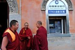 монахи atm Стоковое Изображение