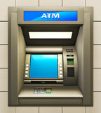 ATM. Illustration of cash machine. Made in 3d Royalty Free Stock Images