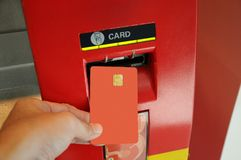 ATM. Take cash from the ATM Royalty Free Stock Photography