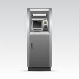 Διανυσματική μηχανή μετρητών τράπεζας του ATM που απομονώνεται Στοκ Εικόνες