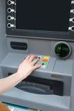 Κώδικας ασφαλείας του ATM Στοκ φωτογραφία με δικαίωμα ελεύθερης χρήσης