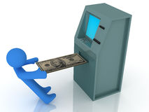 ATM. 3d render of atm machine. Finance concept vector illustration