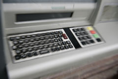 ATM (automated teller machine) QWERTY keyboard royalty free stock images