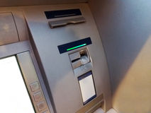 ATM - Automated teller machine to raise money.  Royalty Free Stock Photography