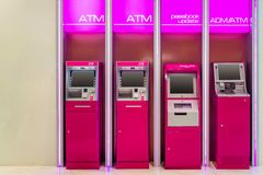 ATM automatic teller machine ADMAutomatic Cash Deposit Machine passbook update For cash services and all for financial. Transaction. Banking and technology stock photo