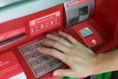 ATM automatisk träffande maskin Royaltyfri Foto
