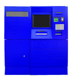 ATM Bank Cash Machine - blue Royalty Free Stock Images