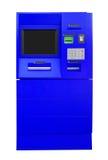 ATM Bank Cash Machine - blue Stock Photography