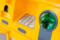 ATM bank cash machine built into wall Royalty Free Stock Photos