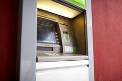 Atm bank cash machine. Finance, money and technology concept - atm bank cash machine Stock Photography