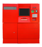 ATM Bank Cash Machine - red Stock Photo
