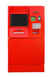 ATM Bank Cash Machine - red Royalty Free Stock Images