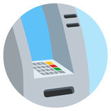 ATM bank cash machine on white background isolated vector illustration Royalty Free Stock Photos