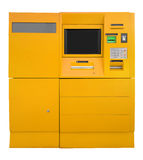 ATM Bank Cash Machine - yellow Royalty Free Stock Photography