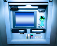 ATM Bank machine. Typical ATM bank cash machine Royalty Free Stock Photography