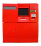 ATM-Bank-Registrierkasse - Rot Stockfoto