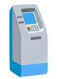 ATM banka gotówkowa maszyna na białej tło wektoru ilustraci Obrazy Stock