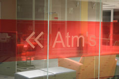 ATM - banking sign Stock Images