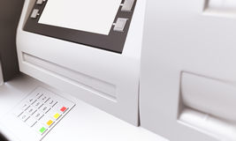ATM blank display sideview Stock Photos