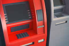 ATM with blank screen Royalty Free Stock Photo