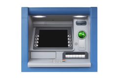ATM with Blank Screen isolated on white background Stock Images