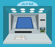 ATM. With Blank Screen in Wall. Royalty Free Stock Photos