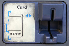 ATM Card Swipe Stock Image