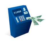 ATM Cash dispenser giving money away Royalty Free Stock Photo