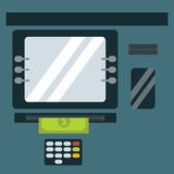 ATM cash dispenser vector illustration. Royalty Free Stock Photography