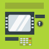 ATM cash dispenser vector illustration. Stock Images