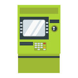 ATM cash dispenser vector illustration. Stock Photos